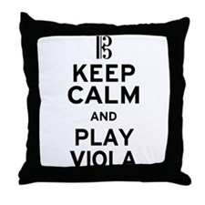 Keep Calm Viola Throw Pillow
