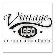 "Vintage 1950 Square Car Magnet 3"" x 3"""