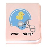 Personalized Kids Football baby blanket