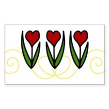 Red Tulips Decal