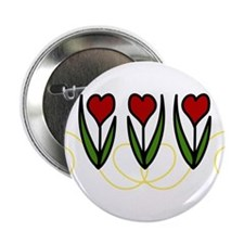 """Red Tulips 2.25"""" Button"""