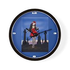 Dia de los Muertos Katrina Pin-up Wall Clock