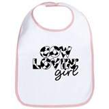 cow lovin girl Bib