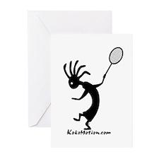 Kokopelli Tennis Player Greeting Cards (Package of