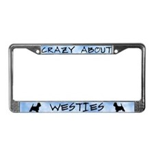 Crazy About Westies License Plate Frame