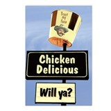 Chicken Delicious Postcards (Package of 8)