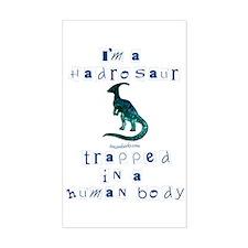 I'm a Hadrosaur Rectangle Decal