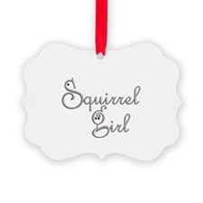 Squirrel Lover Girl Ornament