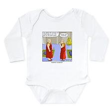 Buddhist Compliment Long Sleeve Infant Bodysuit