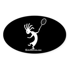 Kokopelli Tennis Player Oval Decal