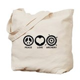 Peace Love Archery Tote Bag
