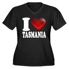 I Heart Tasmania Women's Plus Size V-Neck Dark T-S