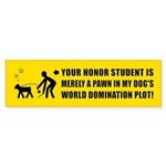 DOG World Domination Plot Bumper Sticker
