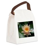 Peach Lotus.jpg Canvas Lunch Bag