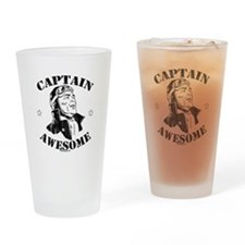 Cute Captain awesome Drinking Glass