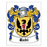 Rubi Coat of Arms Small Poster