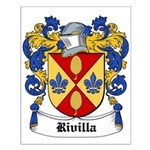 Rivilla Coat of Arms Small Poster