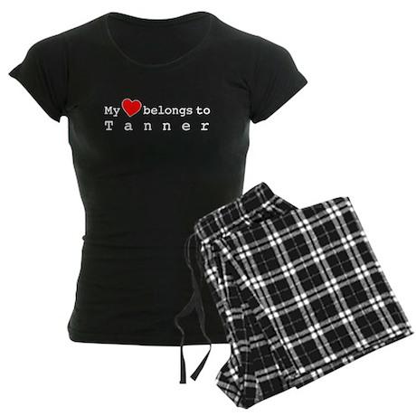 My Heart Belongs To Tanner Women's Dark Pajamas