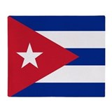 Flag of Cuba Throw Blanket