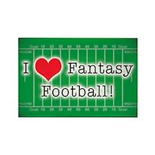 I Love Fantasy Football Rectangle Magnet (100 pack