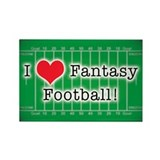 I Love Fantasy Football Rectangle Magnet (10 pack)