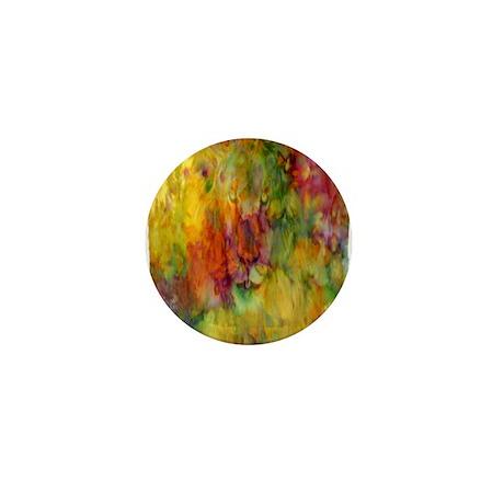 tie dye colorful lion art illustration Mini Button