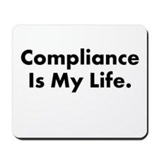 Motivational or Demotivational Compliance Mousepad