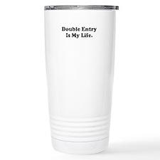 Double Entry Funny Accountant Ceramic Travel Mug