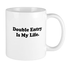 Double Entry Motivational Demotivational Mug