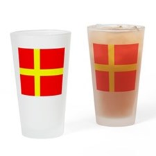 Flag of Skåne Drinking Glass