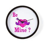 Be Mine Valentine Wall Clock