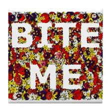 Bite Me (design) Tile Coaster