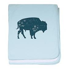 Buffalo baby blanket