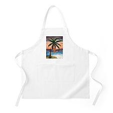 Palm Tree Sunset Art BBQ Apron