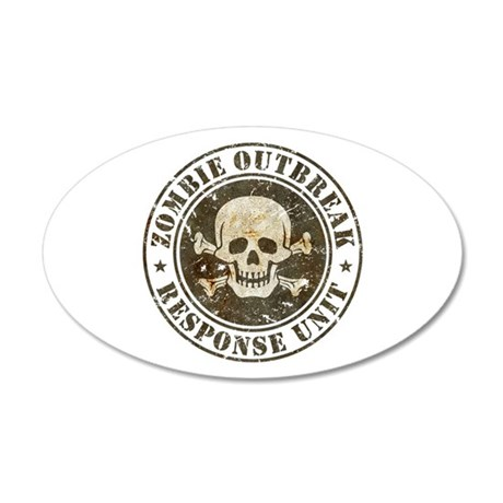Zombie Outbreak Response Unit 20x12 Oval Wall Deca