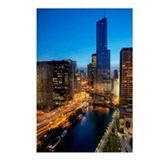 Aerial View of Chicago River and Wacker Drive at D