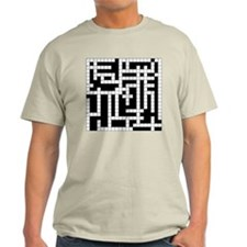 Crossword Puzzle Ash Grey T-Shirt