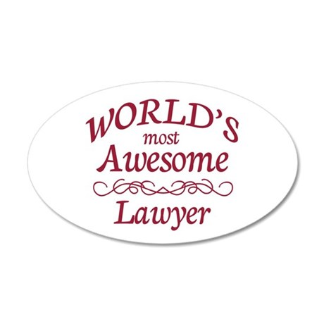 Awesome Lawyer 20x12 Oval Wall Decal