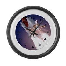 Cute Space shuttle Large Wall Clock