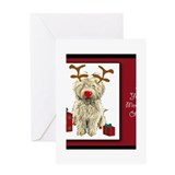 Cute Dog breed tiles Greeting Card