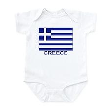 Greece Flag Merchandise Infant Bodysuit