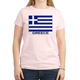 Greece Flag Merchandise Women's Pink T-Shirt