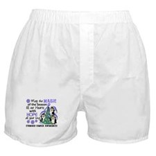 Holiday Penguins Stomach Cancer Boxer Shorts