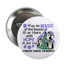 "Holiday Penguins Stomach Cancer 2.25"" Button (100"