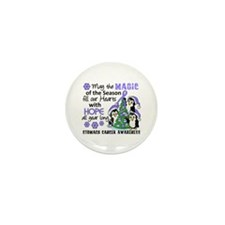 Holiday Penguins Stomach Cancer Mini Button (100 p