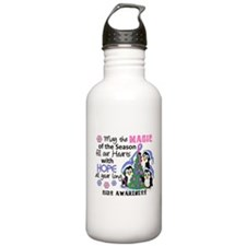 Holiday Penguins SIDS Water Bottle