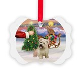 Cute Santa imaal terrier Ornament