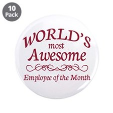 "Employee of the Month 3.5"" Button (10 pack)"