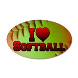 Cute I heart softball Wall Decal