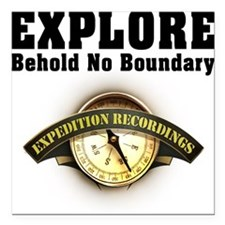 "Expedition - Motto Square Car Magnet 3"" x 3"""